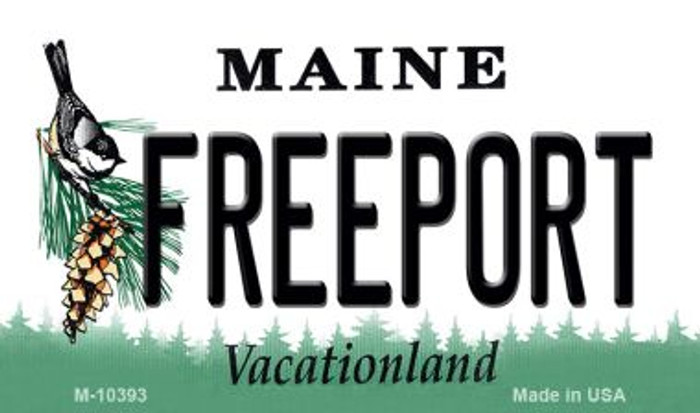 Freeport Maine State License Plate Magnet M-10393