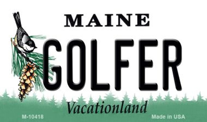 Golfer Maine State License Plate Magnet M-10418