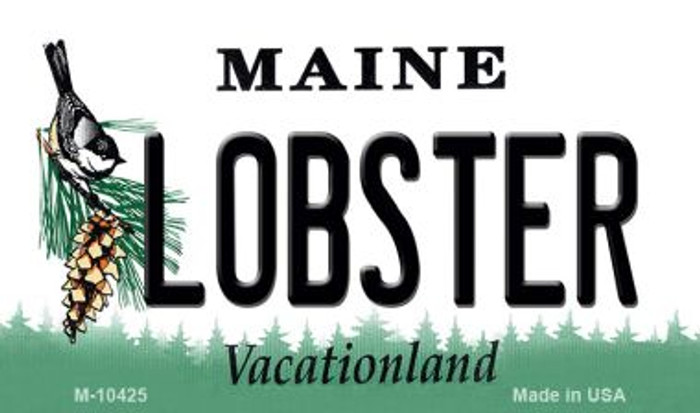 Lobster Maine State License Plate Magnet M-10425