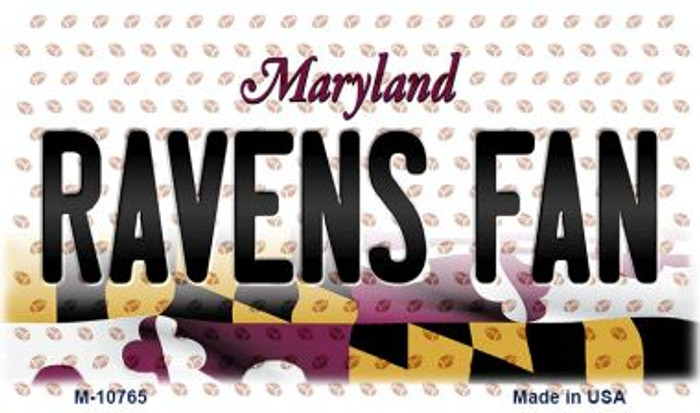 Ravens Fan Maryland State License Plate Magnet M-10765