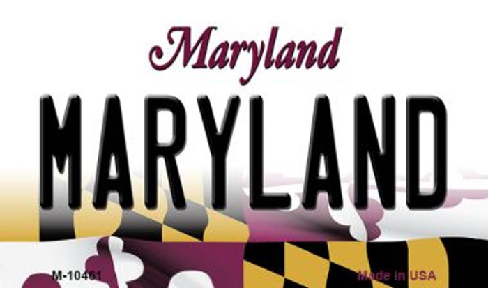 Maryland State License Plate Magnet M-10461