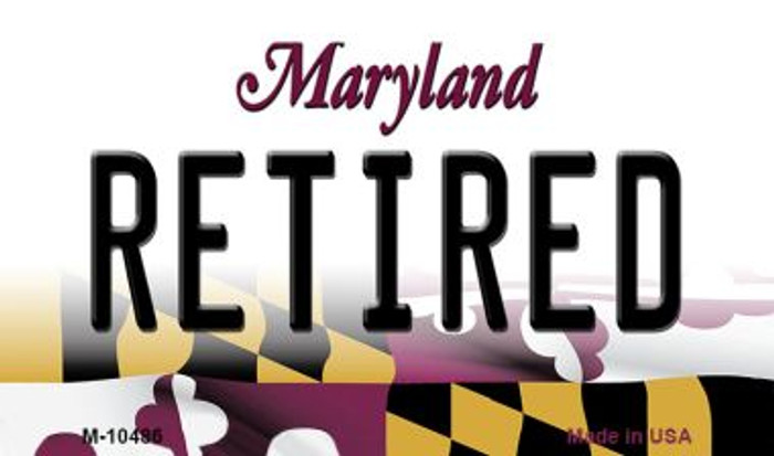 Retired Maryland State License Plate Magnet M-10486
