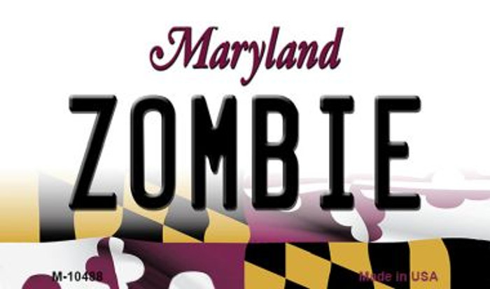Zombie Maryland State License Plate Magnet M-10488