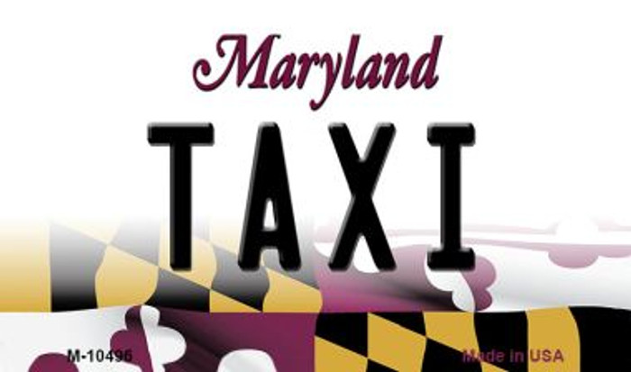 Taxi Maryland State License Plate Magnet M-10496