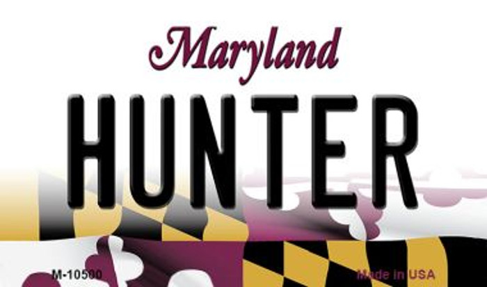 Hunter Maryland State License Plate Magnet M-10500