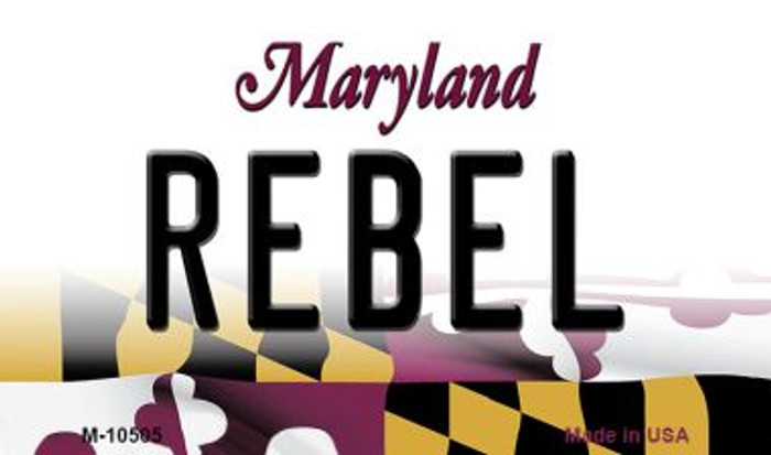 Rebel Maryland State License Plate Magnet M-10505