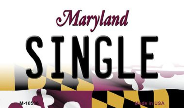 Single Maryland State License Plate Magnet M-10506