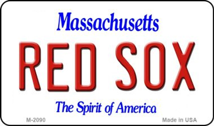 Red Sox Massachusetts State License Plate Magnet M-2090