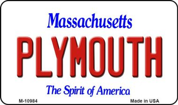 Plymouth Massachusetts State License Plate Magnet M-10984