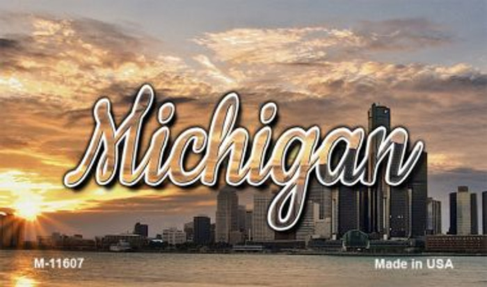 Michigan City Sunset Magnet M-11607