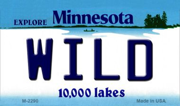 Wild Minnesota State License Plate Magnet M-2290