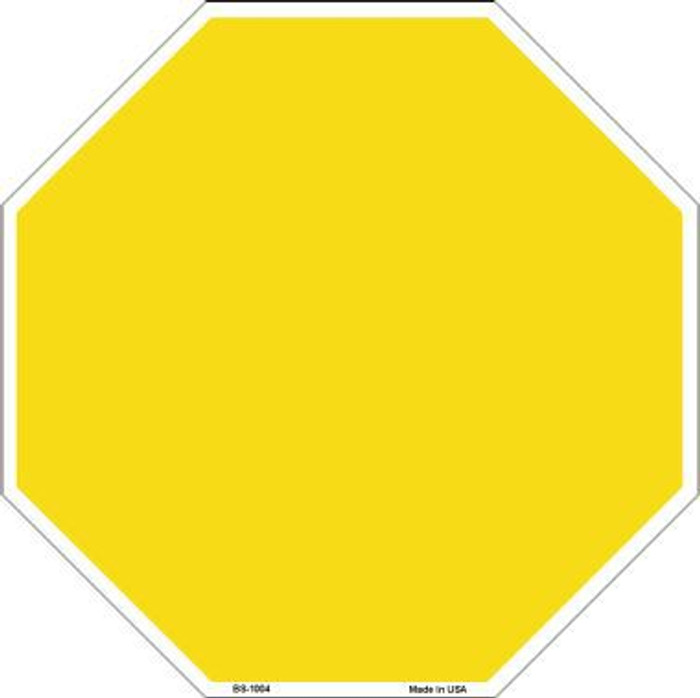 Yellow Dye Sublimation Octagon Metal Novelty Stop Sign BS-1004