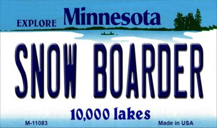 Snow Boarder Minnesota State License Plate Novelty Magnet M-11083