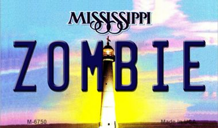 Zombie Mississippi State License Plate Magnet M-6750