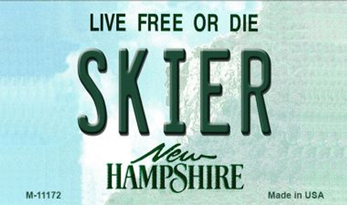 Skier New Hampshire State License Plate Magnet M-11172
