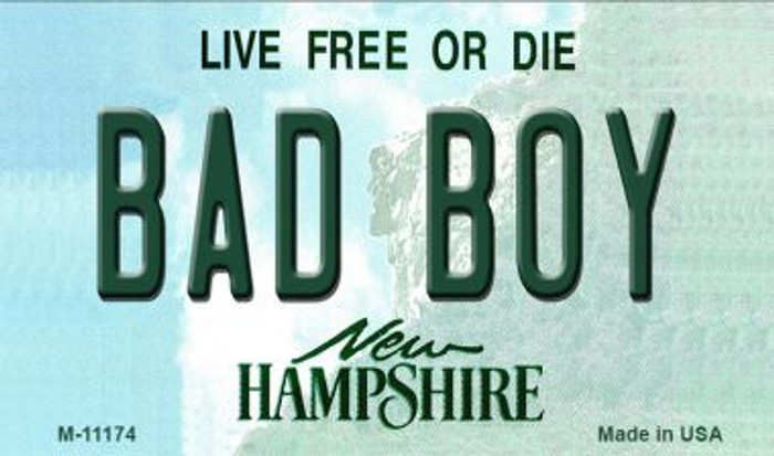 Bad Boy New Hampshire State License Plate Magnet M-11174