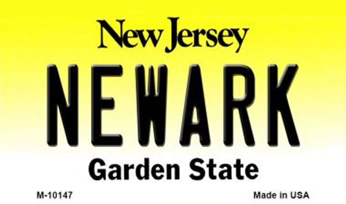Newark New Jersey State License Plate Magnet M-10147