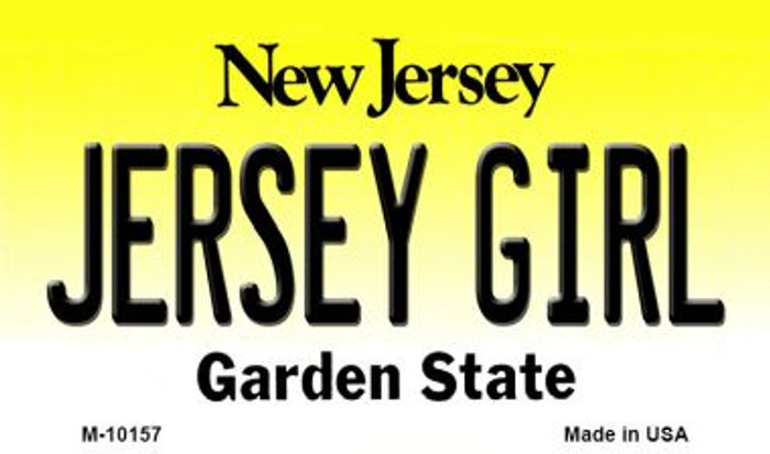 Jersey Girl New Jersey State License Plate Magnet M-10157