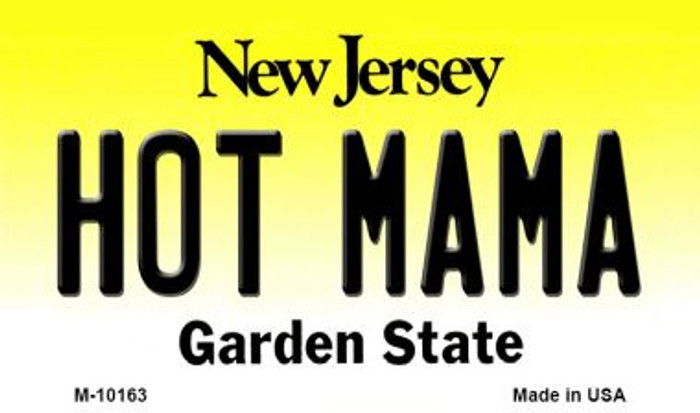 Hot Mama New Jersey State License Plate Magnet M-10163