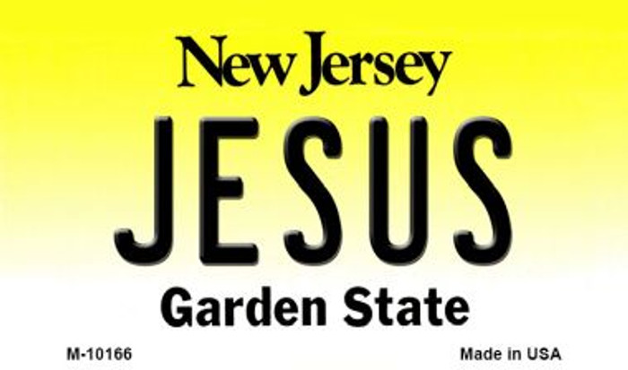 Jesus New Jersey State License Plate Magnet M-10166