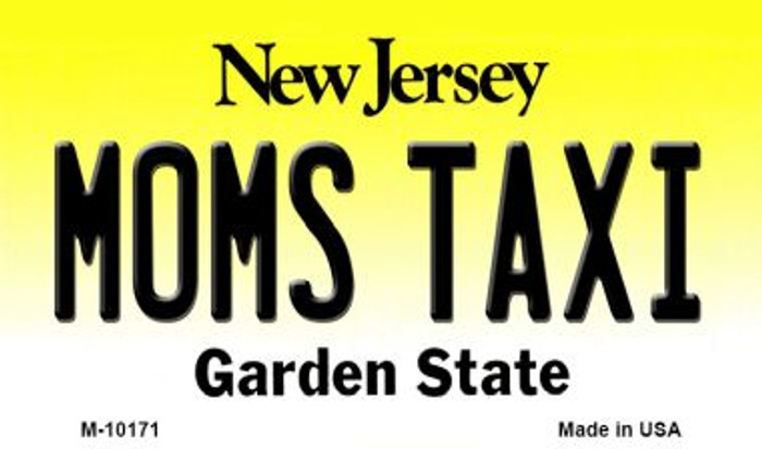 Moms Taxi New Jersey State License Plate Magnet M-10171