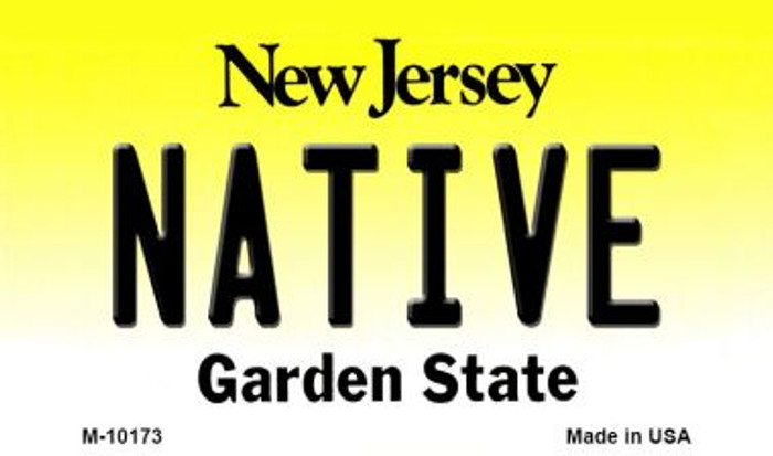 Native New Jersey State License Plate Magnet M-10173