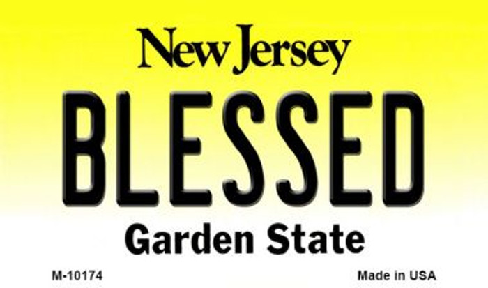 Blessed New Jersey State License Plate Magnet M-10174