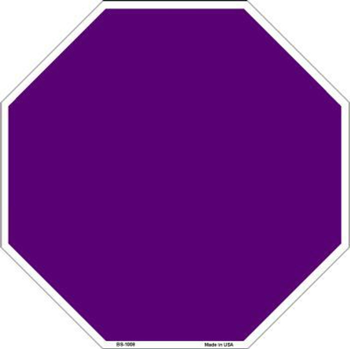 Purple Dye Sublimation Octagon Metal Novelty Stop Sign BS-1008