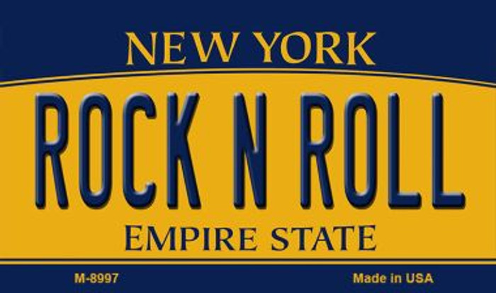 Rock N Roll New York State License Plate Magnet M-8997