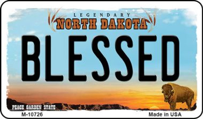 Blessed North Dakota State License Plate Magnet M-10726