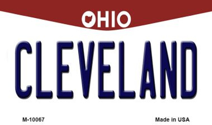 Cleveland Ohio State License Plate Magnet M-10067