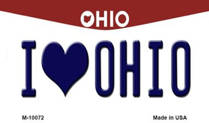 I Love Ohio State License Plate Magnet M-10072