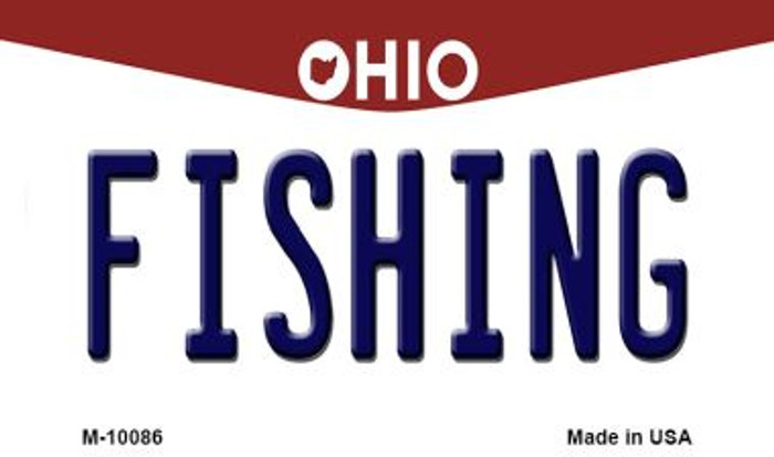 Fishing Ohio State License Plate Magnet M-10086