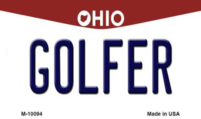 Golfer Ohio State License Plate Magnet M-10094