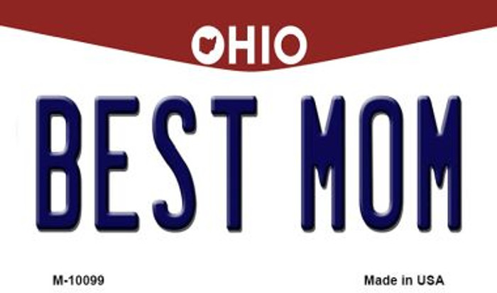 Best Mom Ohio State License Plate Magnet M-10099
