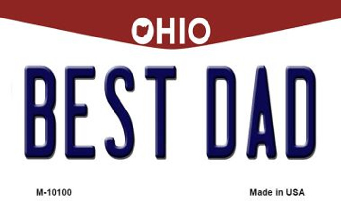 Best Dad Ohio State License Plate Magnet M-10100