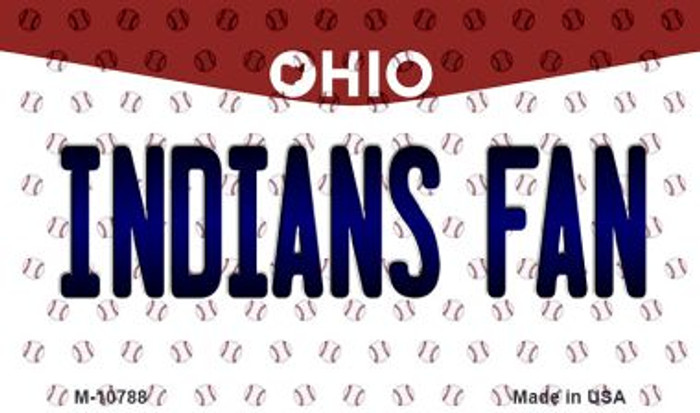 Indians Fan Ohio State License Plate Magnet M-10788