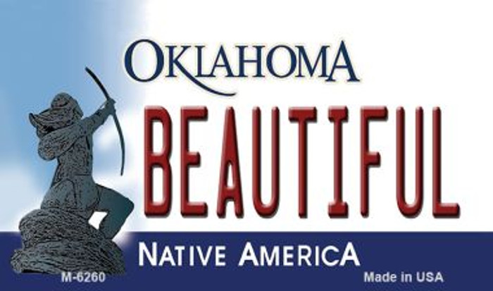 Beautiful Oklahoma State License Plate Novelty Magnet M-6260