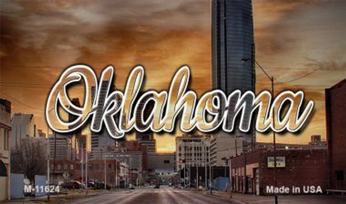 Oklahoma Sunset Skyline Magnet M-11624