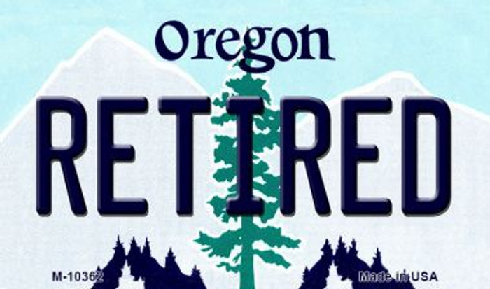 Retired Oregon State License Plate Magnet M-10362