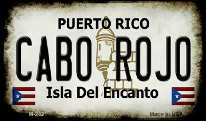Cabo Rojo Puerto Rico State License Plate Magnet M-2821