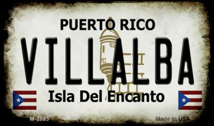 Villalba Puerto Rico State License Plate Magnet M-2885