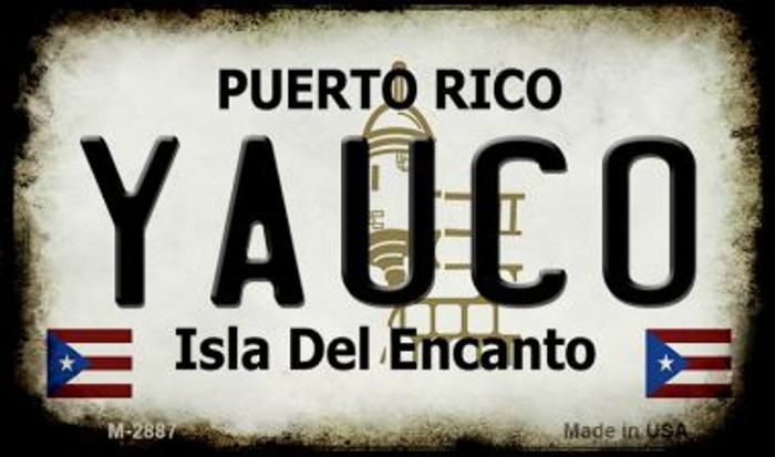 Yauco Puerto Rico State License Plate Magnet M-2887