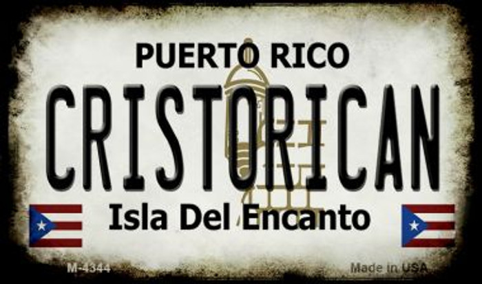 Cristorican Puerto Rico State License Plate Magnet M-4344