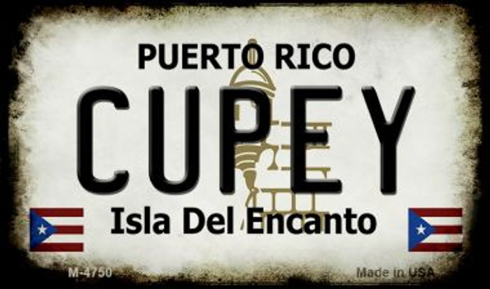 Cupey Puerto Rico State License Plate Magnet M-4750