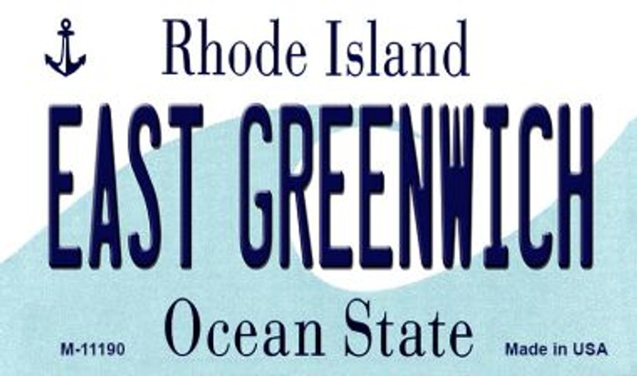 East Greenwich Rhode Island State License Plate Novelty Magnet M-11190