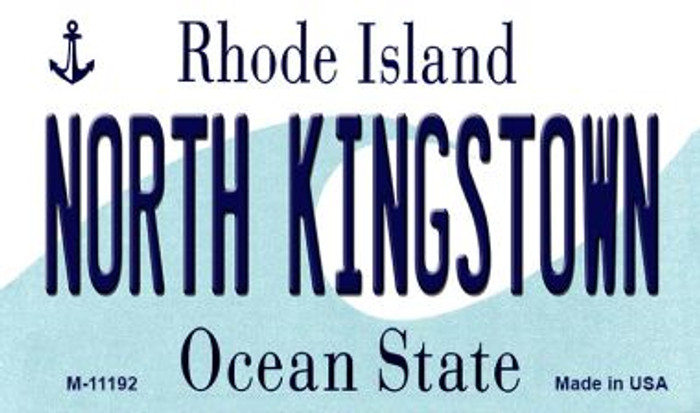 North Kingstown Rhode Island State License Plate Novelty Magnet M-11192