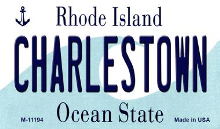 Charlestown Rhode Island State License Plate Novelty Magnet M-11194