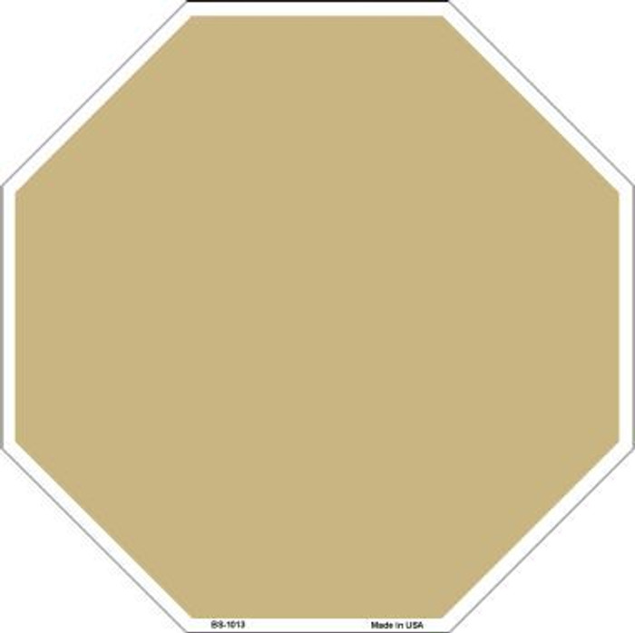 Gold Dye Sublimation Octagon Metal Novelty Stop Sign BS-1013