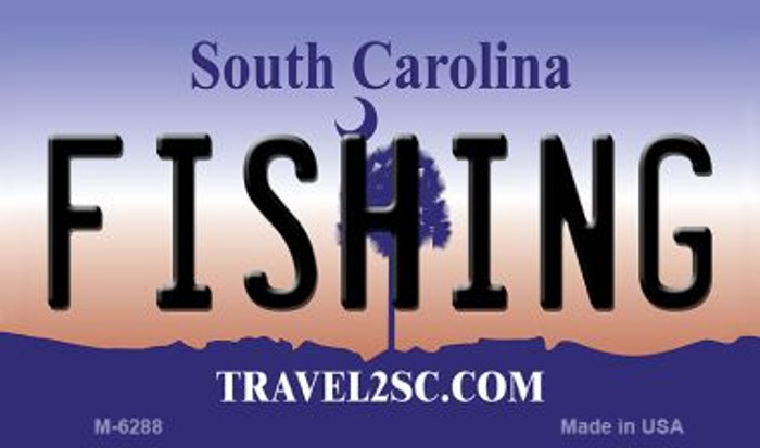 Fishing South Carolina State License Plate Magnet M-6288